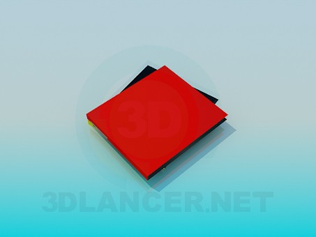 3d model Document case - preview