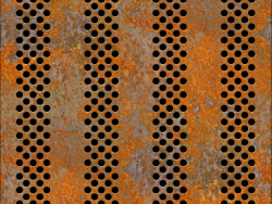 rusty openwork sheet metal