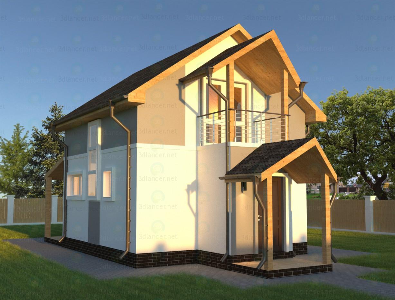 3d моделирование Загородный дом модель скачать бесплатно