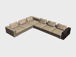 Sofa Infiniti LUX (coin, avec des étagères, 450h350)
