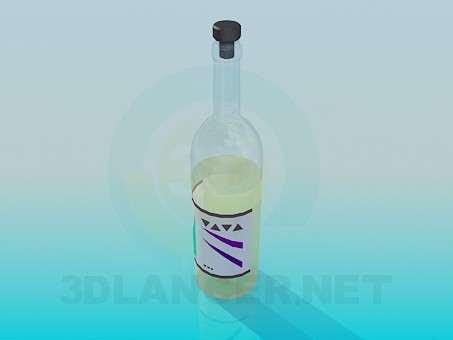 3d modeling A bottle of wine model free download