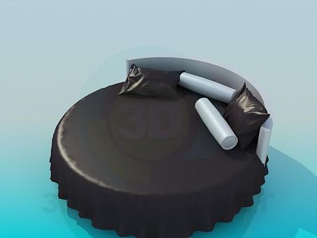 descarga gratuita de 3D modelado modelo La cama redonda