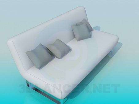 3d modeling Sofa with pillows model free download