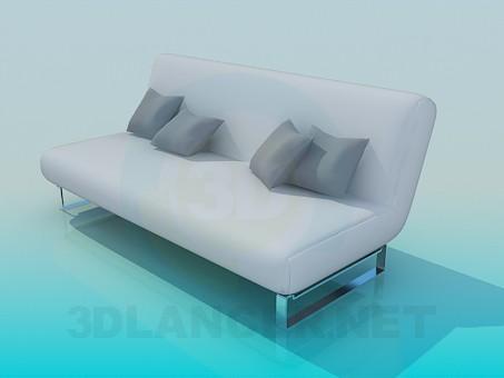 3d модель Диван-книжка с подушками – превью