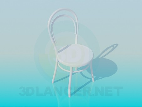 3d modeling Wooden round chair model free download