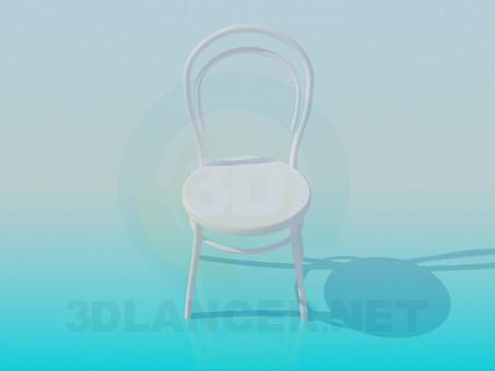 modelo 3D Silla de madera redonda - escuchar