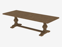 "Dining table 108 ""NEW TRESTLE TABLE (8831.1003.L)"