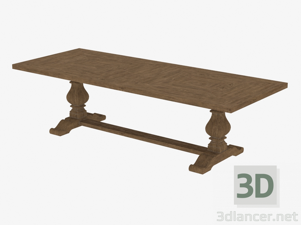 3d model dining table 108 new trestle table for New model dining table