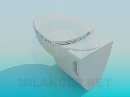 modelo 3D El inodoro - escuchar