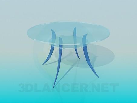3d модель Круглый столик с дугообразными ножками – превью