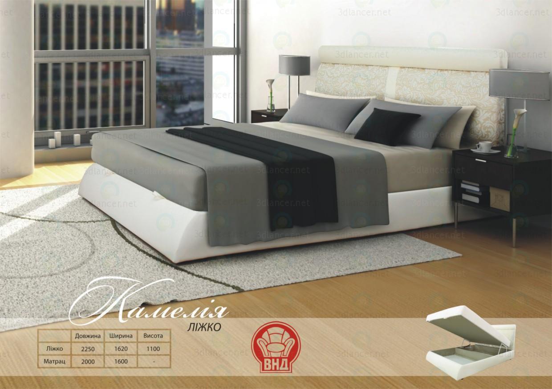3d модель Ліжко Камелія – превью