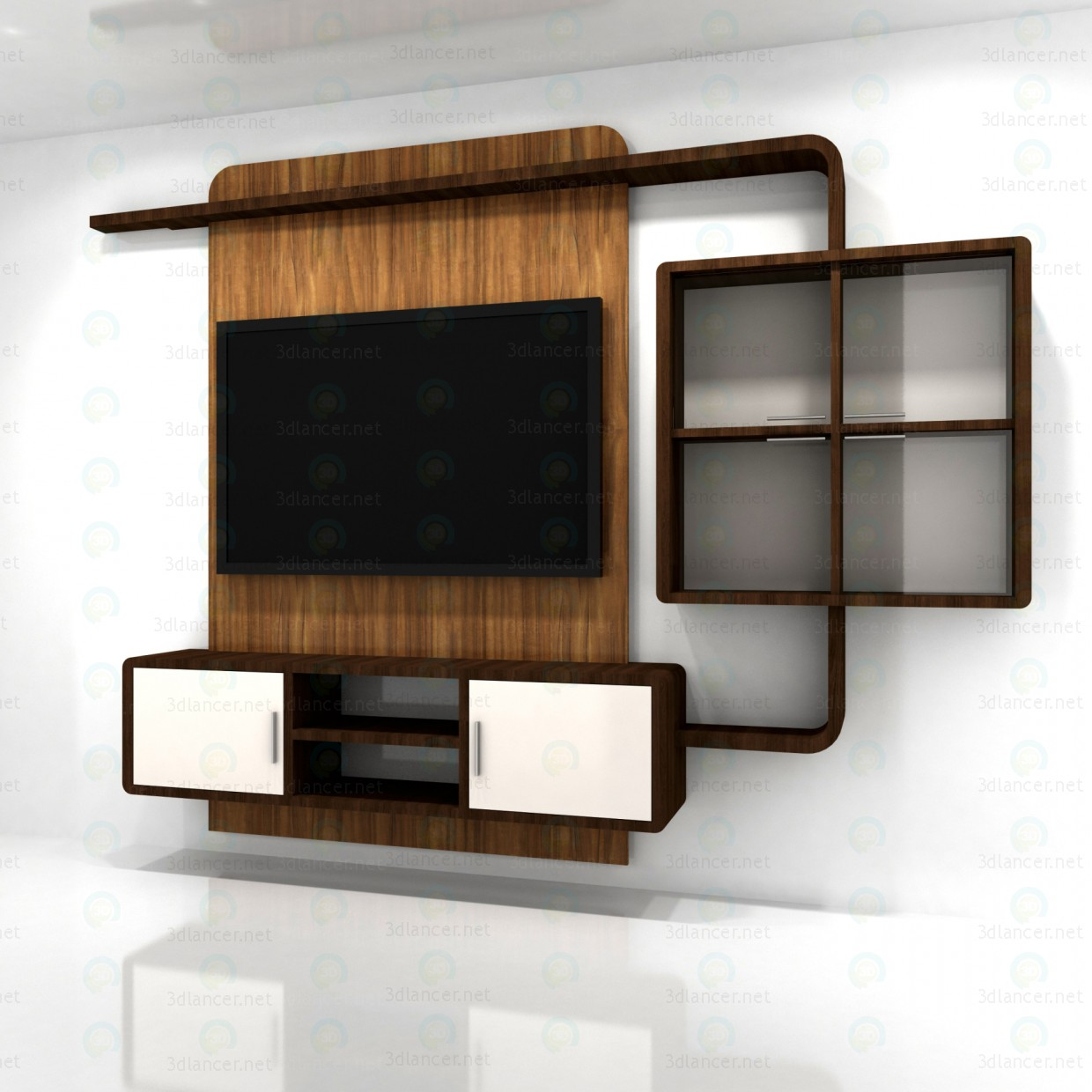 3d model living room furniture style high tech download for Model furniture