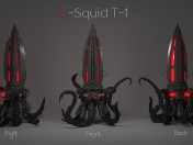 Night-light watches U-T-1 Squid