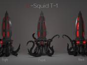 Nocturna de relojes U-T-1 calamar