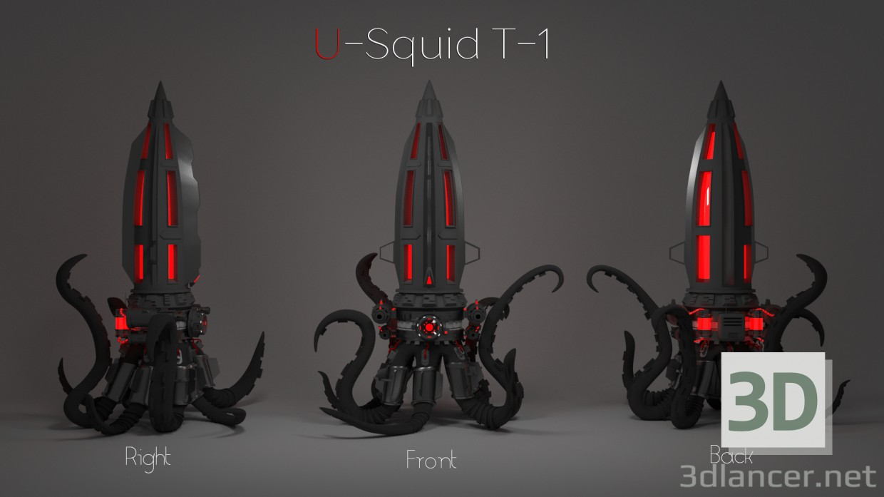 3d Night-light watches U-T-1 Squid model buy - render