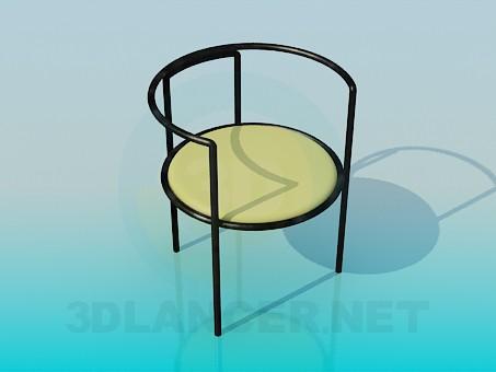 3d модель Стул с мягким сидением – превью