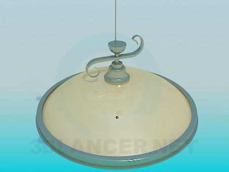 modelo 3D Lámpara Chandelier con altura ajustable - escuchar