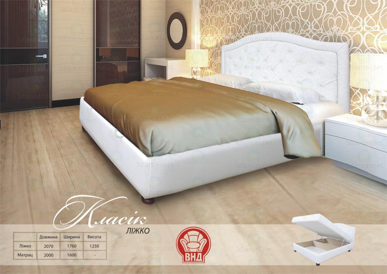 3d модель Кровать Классик – превью