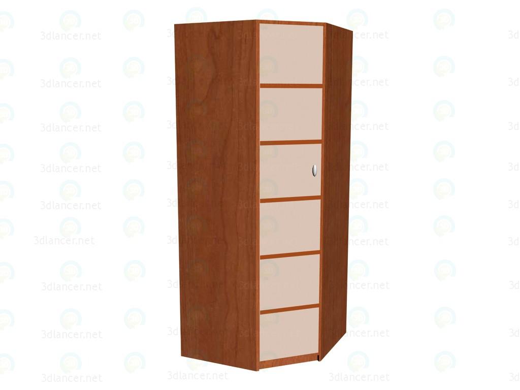 3d modeling Corner wardrobe model free download