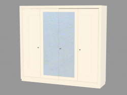 4-door wardrobe with basement base (without a picture)
