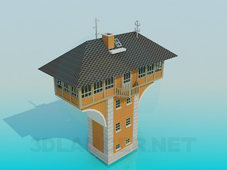 3d моделирование Жилое здание модель скачать бесплатно