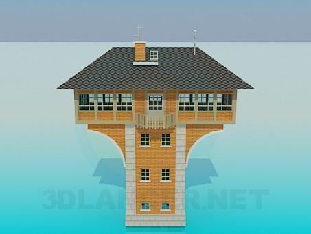 3d модель Жилое здание – превью