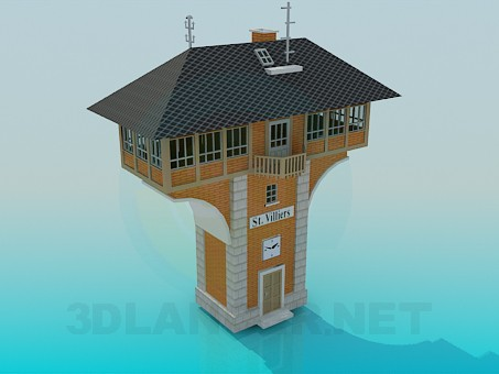modelo 3D Edificio residencial - escuchar