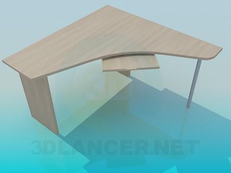 3d модель Угловой компьютерный стол – превью