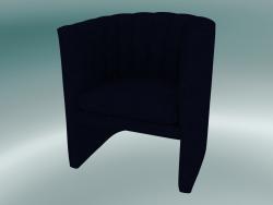 Preguiçoso da poltrona (SC23, H 75cm, 65x70cm, veludo 9 meia-noite)