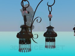 Chandelier and sconce set