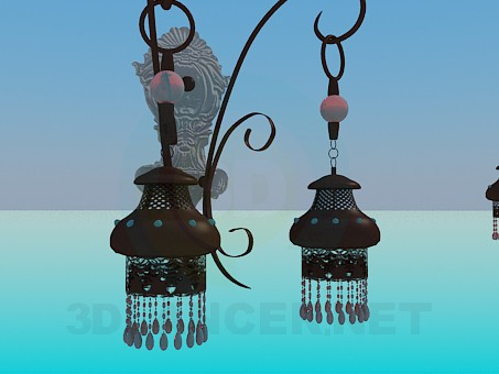 3d modeling Chandelier and sconce set model free download