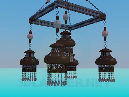 modelo 3D Conjunto de lámpara y lámpara de - escuchar
