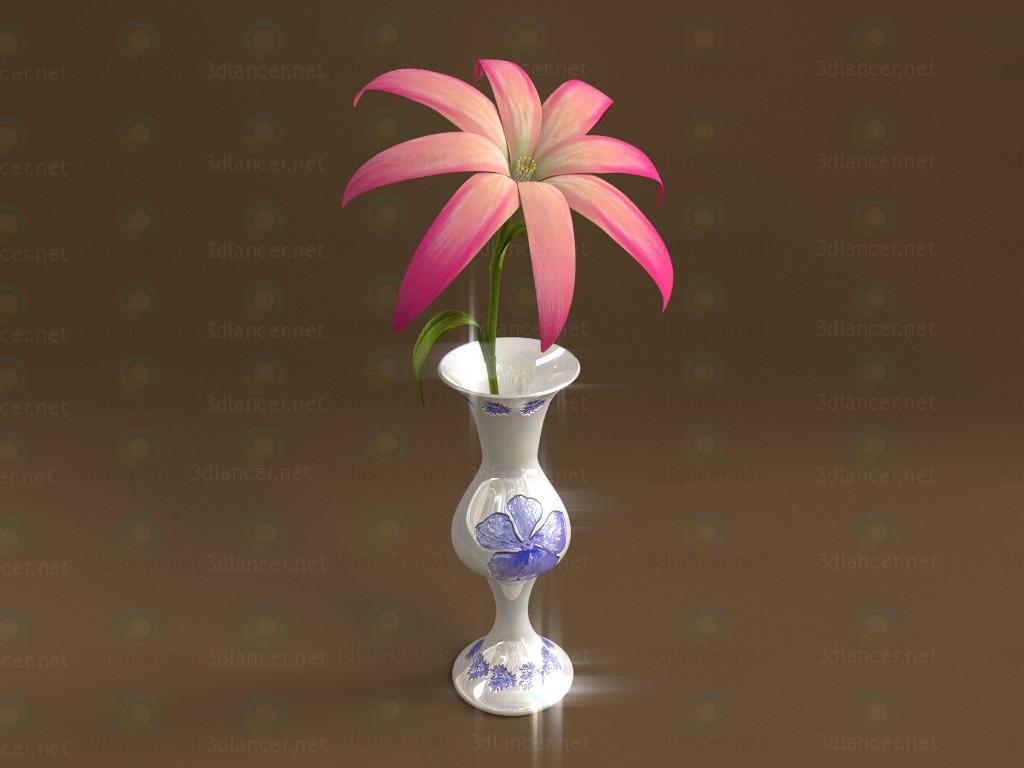 3d модель Ваза с цветком – превью