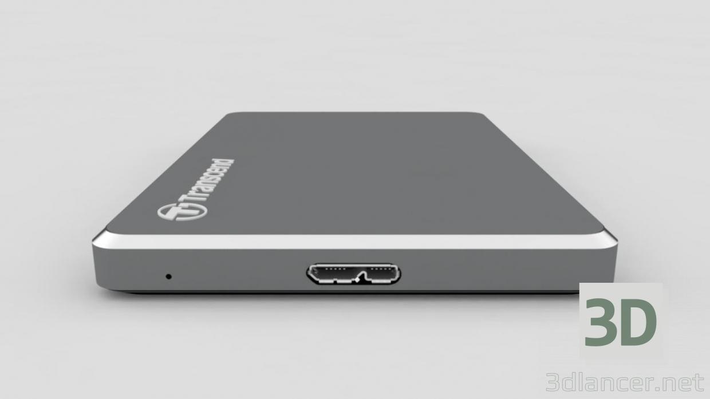 """Disco rigido esterno Transcend StoreJet 25C3 2.5 """"USB 3.0 pagato modello 3d con l'anteprima di Nikolay3D PREVIEWNUM"""