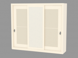 2-door wardrobe with artificial leather insert