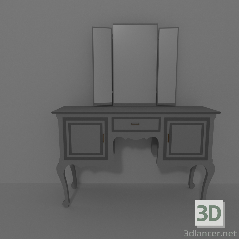 3d Pier-glass model buy - render