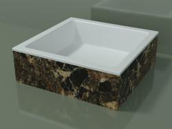 Vasque à poser (01R121301, Emperador M06, L 48, P 48, H 16 cm)