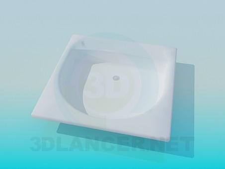 3d моделирование Мелкая раковина модель скачать бесплатно