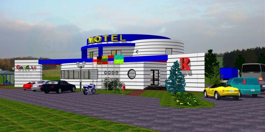 3d модель Мотель – превью