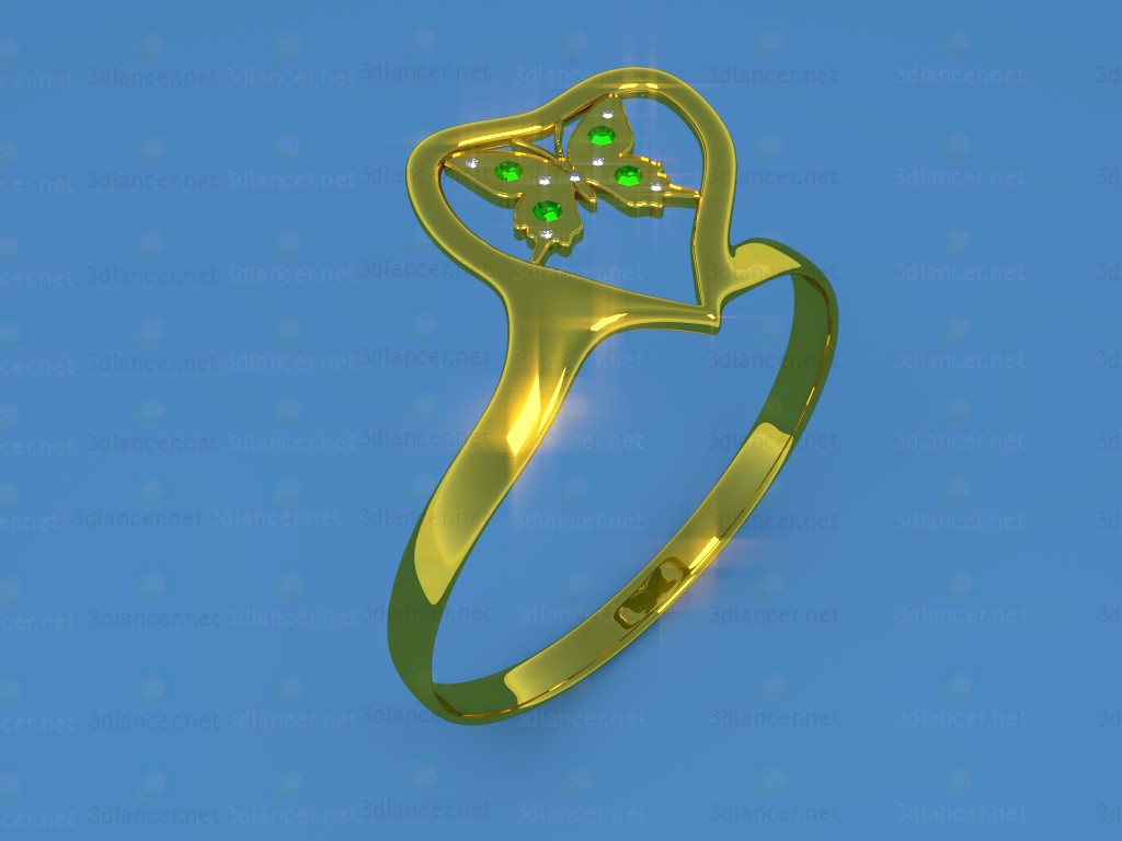 "3d modeling Ring ""Butterfly"" model free download"