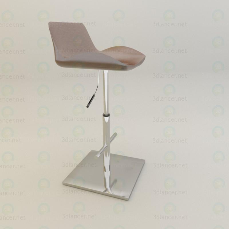 3d барный стул модель купить - ракурс