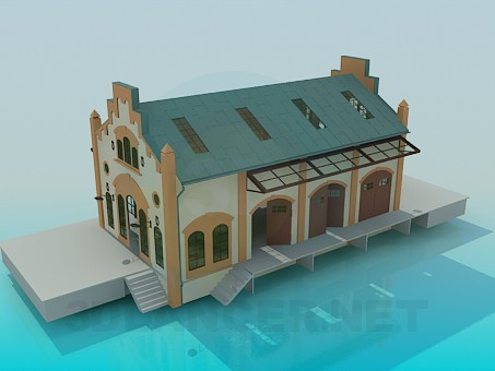 3d моделирование Здание модель скачать бесплатно