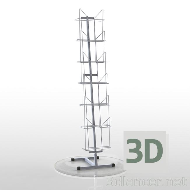 3d model shelving unit - preview