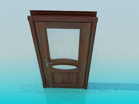 3d modeling Wooden door model free download