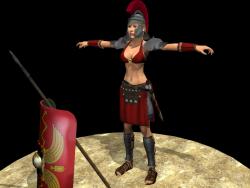 Mulher guerreira da Roma Antiga