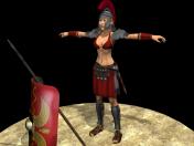 Female ancient Rome warrior
