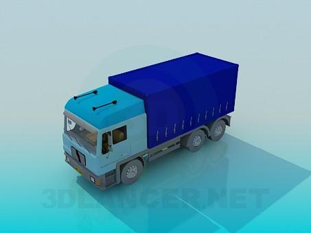 3d модель Вантажівка – превью
