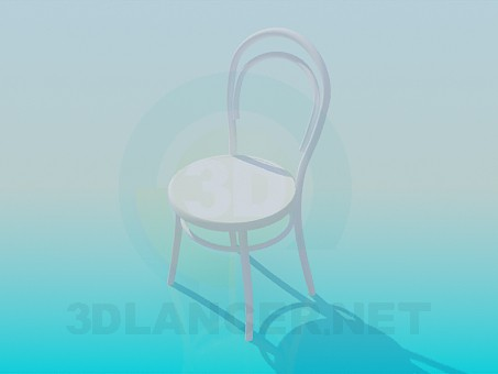 3d model Wooden round chair - preview
