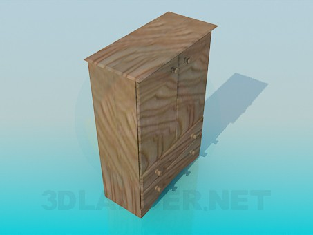 3d model Wardrobe-chest of drawers - preview