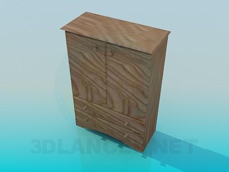 modelo 3D Armario Cajonera - escuchar